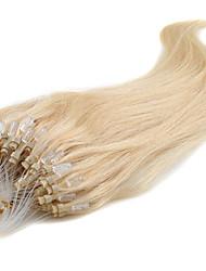 Micro Bead Hair Extension 16-24Inch Micro Loop Ring Nature Hair Straight Human Hair 100% Pure Human Hair Extension