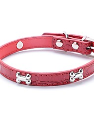 Cat / Dog Collar Adjustable/Retractable / Cosplay / Running / Hands free / Casual Geometic Red / Black / Blue / Pink PU Leather