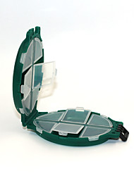 Bait Storage box 5pcs pcs Jig Head Green # g/1/18 oz. Ounce# mm/1-9/16 inchHard Plastic Bait Casting