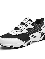 Men's Sneakers Spring / Fall Comfort Fabric Casual Flat Heel  Black / Blue / White Sneaker