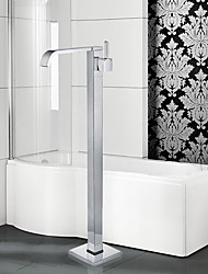 Modern Tub And Shower Waterfall / Widespread / Floor Standing with  Ceramic Valve Single Handle One Hole