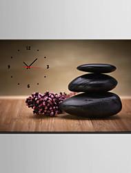 E-HOME® Black Stone Clock in Canvas 1pcs