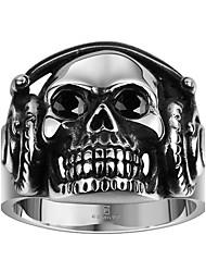 Ringe Ohne Stein Alltag / Normal Schmuck Stahl Herren Ring 1 Stück,8 / 9 / 10 / 11 Silber