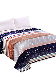 bedtoppings blanket flanelle molleton queen size 200x230cm bande colorée 210gsm