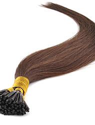 pré ligados queratina plana extensões de cabelo ponta 0,5 g / vertente Remy cabelo humano 50g / lot i ponta do cabelo Brazilain cabelo