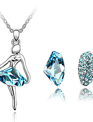 Thousands of colors Jewelry Necklaces / Earrings Jewelry set Crystal  1set Women -9-1-1-3712-018