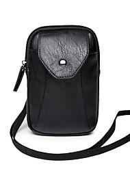 Masculino Couro Ecológico Casual Telefone Móvel Bag