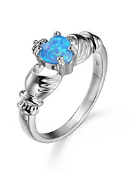 Ring AAA Cubic Zirconia Zircon Cubic Zirconia Simple Style Fashion Dark Blue Purple Red Light Blue JewelryWedding Party Halloween Daily