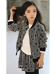 Girl's Casual/Daily Leopard Clothing SetPolyester Fall Gray