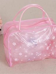Women Storage Bag PVC Professioanl Use Blushing Pink