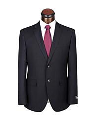 Smokings fit Kerbe zugeschnitten Einreiher Ein-Knopf-Viskose / Wolle&Polyester gemischt solide 2 Stück schwarz