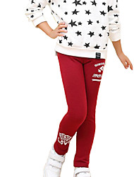 Girl's Casual/Daily Solid Leggings,Cotton / Spandex Winter / Fall Blue / Pink / Red / Gray