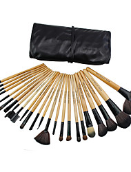 24 Makeup Brushes Set Synthetic Hair Professional / Portable Wood Face / Eye / Lip
