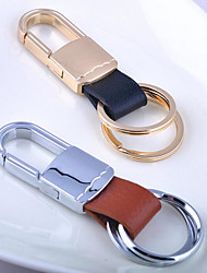 Men'S Leather Metal Couple Keychain