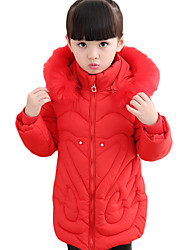Girl's Casual/Daily Solid Down & Cotton Padded,Cotton Winter Black / Blue / Pink / Red