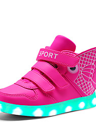 Fille-Décontracté-Bleu / Rose / Blanc / Or-Talon Plat-Confort-Sneakers-Synthétique