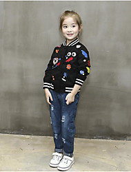 Girl's Casual/Daily Print Suit & Blazer / Jacket & CoatCotton Spring / Fall Black
