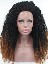 sylvia dentelle synthétique avant perruque perruques noires sombres auburn de chaleur des cheveux crépus bouclés hombre résistants