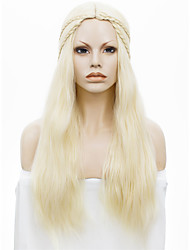 IMSTYLE24''Popular Cheap Long Blonde Straight Machine No Lace Wig Synthetic