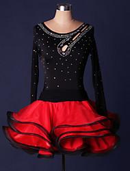 Costumes de Cosplay Plus de costumes Fête / Célébration Déguisement Halloween Rouge / Vert / Noir & rouge Mosaïque Robe CarnavalOrganza /