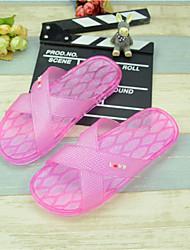 Damen-Slippers & Flip-Flops-Lässig-Gummi-Flacher Absatz-Fersenriemen-Gelb / Rosa / Lila