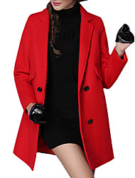 Fall/Winter Women Coats Solid Color Long Sleeve Street Chic Fashion Trench Coat Casual Going Out Woman Winter Coat
