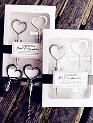20th Wedding Anniversary WINE SET Bottle Opener Bottle Stopper Favors