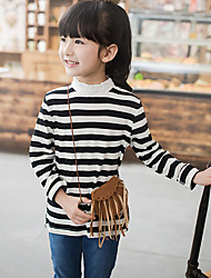 Girl's Casual/Daily Striped Tee / Jacket & CoatCotton Fall Black
