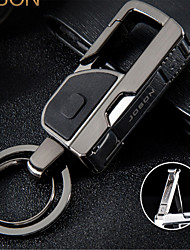 de cuero de alta gama llavero colgando de la cintura accesorios anillo de la llave del coche de los hombres