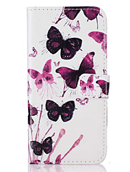 For  iPhone 7 7 Plus  6s 6 Plus  SE 5S 5 5C Card Holder Flip Butterfly  Pattern Case Full Body Case Hard PU Leather