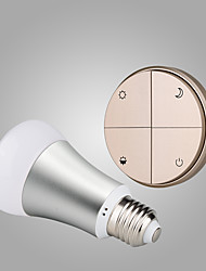 Battery-Free Self-powered Wireless Remote Control E27 Smart Dimmable LED Bulb-Gold  Switch & Silver Bulb