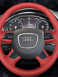 cobertura de volante audi A4L A6L Q3 Q5 couro Q7 S8 camurça costurada à mão