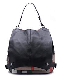 Women Backpack Cowhide All Seasons Casual Black
