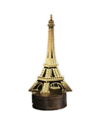 Environmental Protection 3D Paris Tower Iron Three-Dimensional Table Lamp LED Night Light USB Wooden Base
