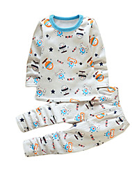 Boy's Casual/Daily Animal Print Clothing Set,Cotton Winter White