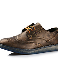 Men's Air cushion Oxfords Spring / Summer / Fall / Winter Comfort Leather Wedding / Office & Career / Party & Evening Black / Brown / Gold