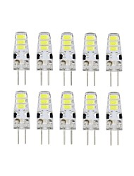 10 Pcs 6 Led G4 Smd5733 DC12V 200 lm Warm White White Double Pin Waterproof Lamp