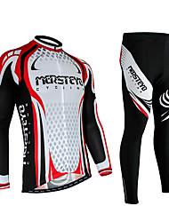 Sportif Homme Manches longues VéloRespirable / Séchage rapide / Design Anatomique / Résistant aux ultraviolets / Perméabilité à