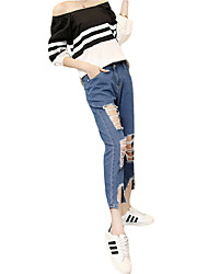 Women's Solid Blue Jeans PantsSexy / Vintage / Street chic Summer