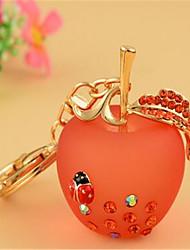 Apple Keychain Women Korea Creative Small Gift Resin Metal Key Chain Car Key Pendant