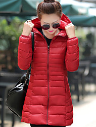 Sign 2016 winter new female Korean fashion Slim thin long live the cap collar down jacket # 096