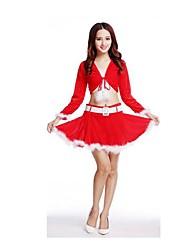 Fête / Célébration Déguisement Halloween Rouge Couleur Pleine Haut / Jupe Noël Féminin