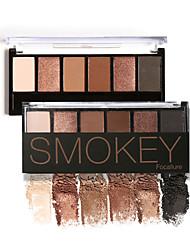6 Paleta de Sombras de Ojos Seco / Mate / Brillo / Mineral Paleta de sombra de ojos Polvo NormalMaquillaje de Diario / Maquillaje de