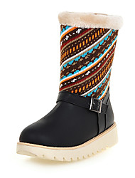 Women's Boots Fall / Winter Platform Twill / Leatherette Office & Career / Dress / Casual Platform Split Joint