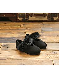 Mädchen-Flache Schuhe-Lässig-VliesKomfort-Schwarz Arm Green Rot