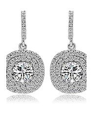 TEEMI AAA Zircon Crystal Drop Earrings Fine Jewelry Material Process for Women Wedding