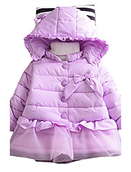 Girl's Going out Solid Down & Cotton PaddedCotton Winter Green / Pink / Purple