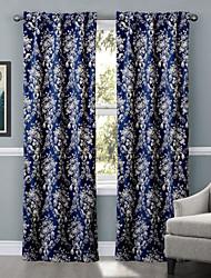 Un Panneau Le traitement de fenêtre Designer , Fleur Salle de séjour Polyester Matériel Rideaux Tentures Décoration d'intérieur For