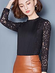 Tee-shirt Femme,Couleur Pleine Décontracté / Quotidien simple Manches ¾ Col Ras du Cou Coton