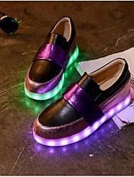 Для женщин Мокасины и Свитер Удобная обувь Полиуретан Повседневные Удобная обувь Белый Черный Лиловый Менее 2,5 см